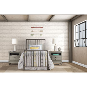 Brandi Bed Set - Twin - Bed Frame Included, Stone