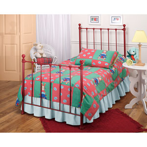 Molly Red Twin Complete Bed