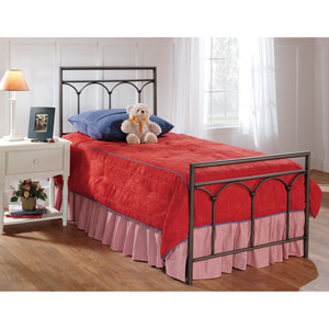Mckenzie Brown Steel Twin Complete Bed