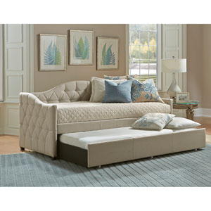 Jamie Beige Daybed with Trundle