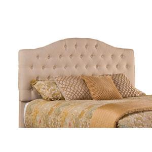 Jamie Linen Beige Upholstered Queen Headboard With Frame