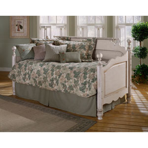 Wilshire Antique White Daybed with Roll-Out Trundle
