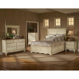 Wilshire Antique White Queen 4-Piece Bed Set