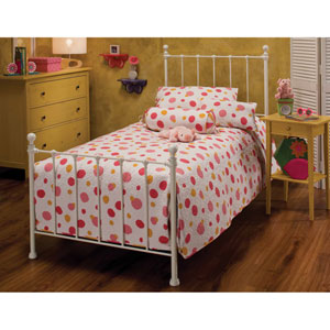 Molly White Twin Complete Bed