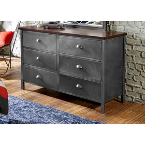 Urban Quarters Black Steel Dresser