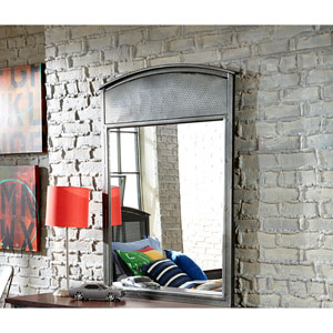 Urban Quarters Black Steel Mirror