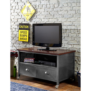 Urban Quarters Black Steel Media Chest