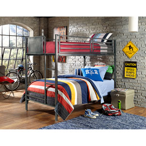 Urban Quarters Black Steel Twin Bunk Bed
