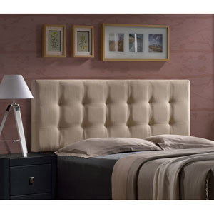 Duggan Linen Beige Queen Headboard With Frame
