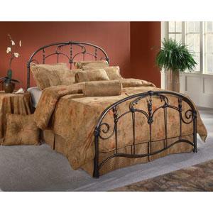Jacqueline Old Brushed Pewter Full Complete Bed