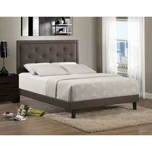 Becker Black and Brown Twin Bed Set with Rail