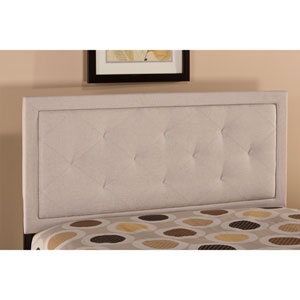 Becker Cream King Headboard with Rails