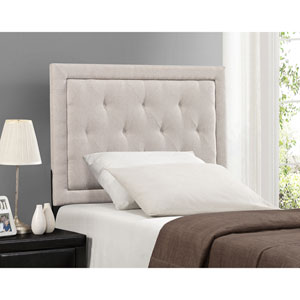 Becker Cream Twin Headboard with Rails