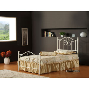 Westfield Off White Twin Complete Bed