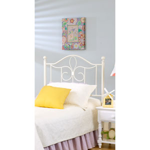 Westfield Off White Metal Headboard Twin with Rails