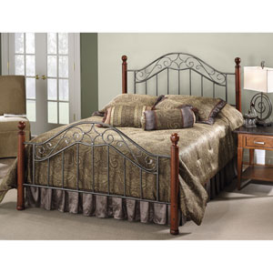 Martino Smoke Silver Queen Complete Bed
