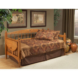 Dalton Medium Oak Daybed with Roll-Out Trundle