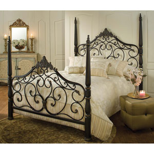 Parkwood Black Gold Queen Complete Bed