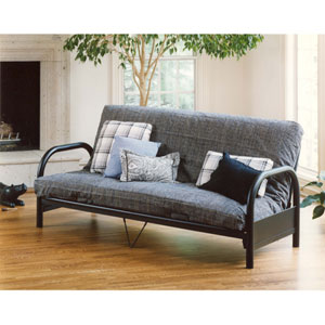 Geneva Black Full Futon, Frame Only
