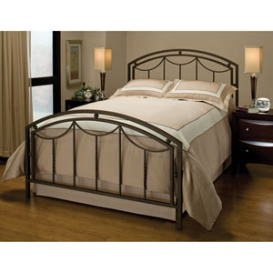 Arlington Bronze King Headboard and Footboard Without Rails