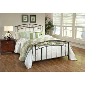 Morris Magnesium Pewter Queen Complete Bed
