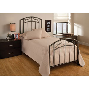 Morris Magnesium Pewter Twin Complete Bed