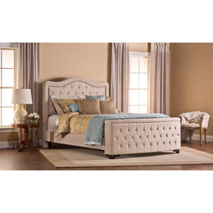 Trieste Cal King Buck Wheat Bed Set with Storage Footboard
