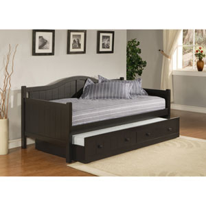 Staci Black Daybed with Roll-Out Trundle