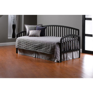Carolina Black Daybed with Suspension Deck and Roll Out Trundle
