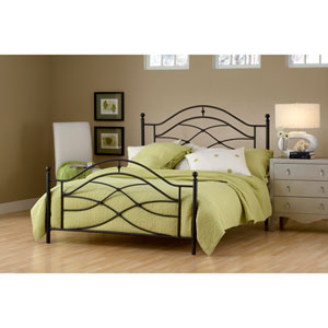 Cole Black Twinkle Full Complete Bed