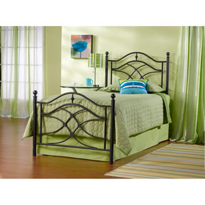 Cole Black Twinkle Twin Complete Bed