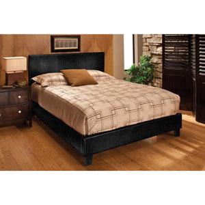 Harbortown Black Vinyl Queen Upholstered Complete Bed