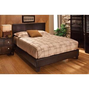 Harbortown Brown Vinyl King Upholstered Complete Bed