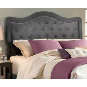 Trieste Pewter King Headboard Only