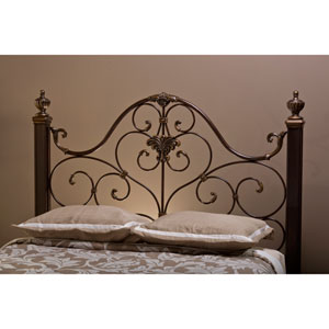 Mikelson Antique Gold Queen Headboard with Rails