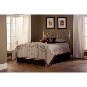 Milano Antique Pewter Queen Complete Bed