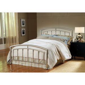 Claudia Matte Nickel Full Headboard and Footboard Without Rails