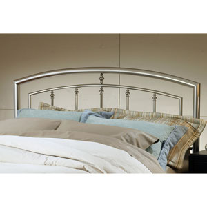 Claudia Matte Nickel King Headboard Only