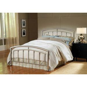Claudia Bed Matte Nickel Queen Complete Bed