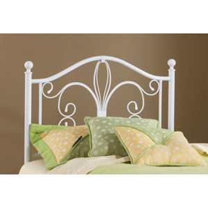 Ruby Textured White Headboard Twin with Rails