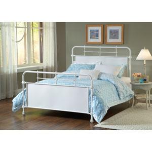 Kensington Textured White Full Complete Bed
