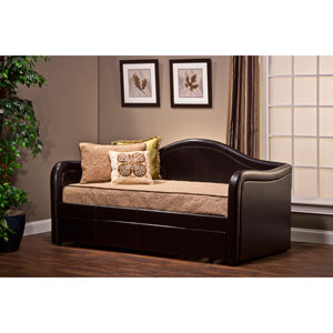Brenton Brown Vinyl Daybed with Trundle