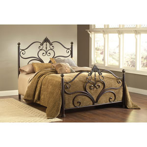 Newton Antique Brown Queen Headboard and Footboard Without Rails