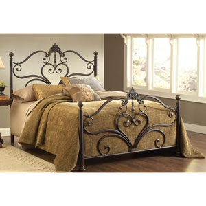 Newton Antique Brown Highlight Queen Complete Bed