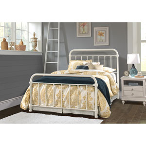Kirkland King Bed Set with Bed Frame - Soft White