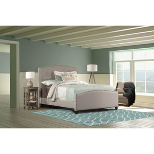 Kerstein Dove Gray Twin Complete Bed With Rails