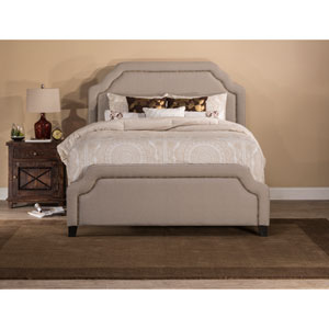 Carlyle Light Taupe King Complete Bed With Rails