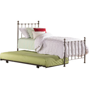 Molly Black Steel Twin Bed with Trundle