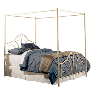 Dover Cream Queen Bed with Rails
