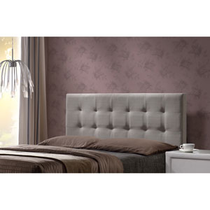 Duggan Queen Headboard with Frame - Light Linen Gray